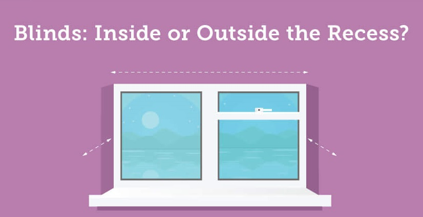 Blinds Inside Vs Outside The Window Recess Infographic Angel Blinds